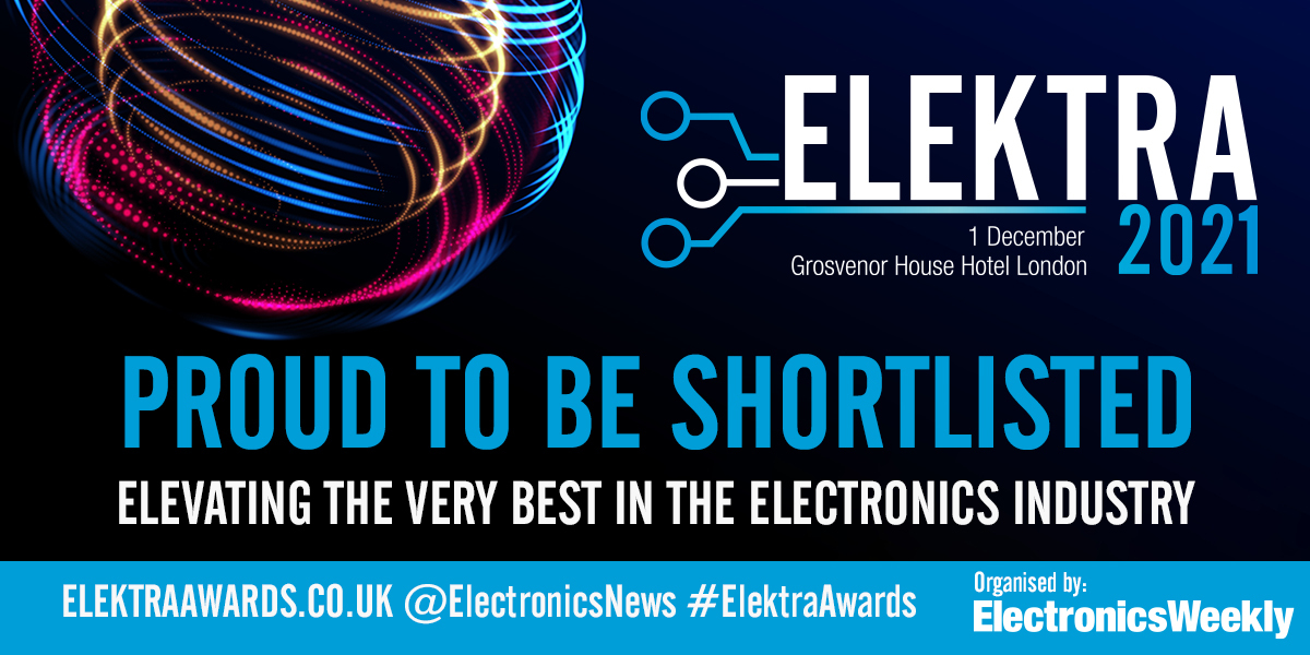 We are shortlisted for the 2021 Elektra Awards